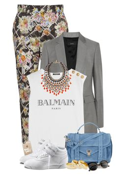 """""""Sem título #161"""" by analookforless ❤ liked on Polyvore featuring Vivienne Westwood Red Label, Joseph, Balmain, Etro, Proenza Schouler, Casetify, Reebok and Sole Society"""