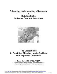 Teepa Snow Dementia Building Skill Handout by Home Instead Senior Care of Sonoma County, CA, via Slideshare
