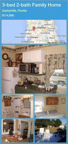 3-bed 2-bath Family Home in Zephyrhills, Florida ►$114,900 #PropertyForSaleFlorida http://florida-magic.com/properties/56613-family-home-for-sale-in-zephyrhills-florida-with-3-bedroom-2-bathroom