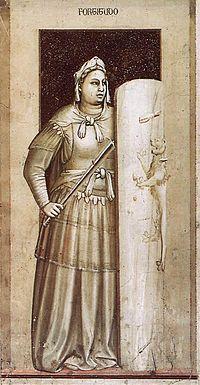 La Fortezza (Fortitudo) è un affresco (120x55 cm) di Giotto, databile al 1306 circa e facente parte del ciclo della Cappella degli Scrovegni a Padova.