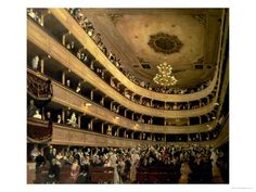 The Auditorium of the Old Castle Theatre, 1888 Giclee Print by Gustav Klimt at AllPosters.com