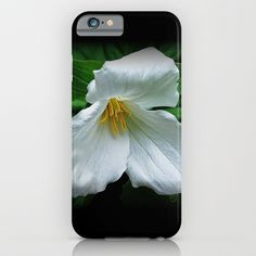 Phone case | Trillium, woodland wildflower, spring floral photo, iphone, ipod, galaxy s6, galaxy s5 s4, nature photograph, color photography by RVJamesDesigns on Etsy