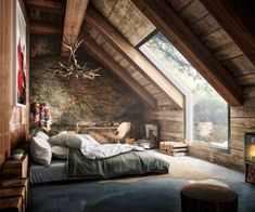 Master bedroom attic design and 60 attic bedroom ideas many designs 39 attic rooms cleverly making use of 15 attic bedrooms that will make you cool attic bedroom design ideas … Interior Architecture, Interior And Exterior, Chalet Interior, Amazing Architecture, Exterior Design, Architecture Memes, Architecture Today, Creative Architecture, Grey Exterior