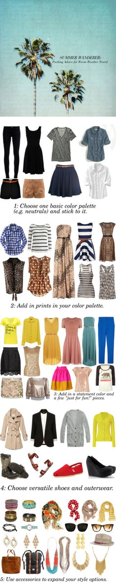 """Summer Wanderer Series: Selecting a Wardrobe"" by sartoriography ❤ liked on Polyvore"