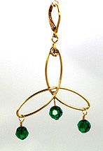 Celtic Triangle Wire & Beads Earrings Jewelry Making Project