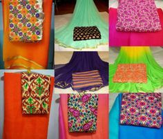 plain_sarees_with_kutch_work_gujri_blouse
