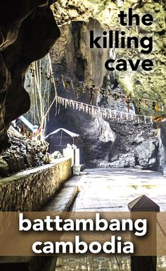 There are a few sites around Battambang worth exploring. Here, at the Killing Cave, natural beauty is mixed with a dark past of Cambodia.
