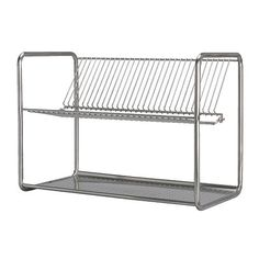 IKEA ORDNING Dish drainer Stainless steel cm Holds large plates with a dia. up to 32 cm as well. Apartment Kitchen Organization, Small Apartment Kitchen, Ikea Shopping, Dish Drainers, Best Ikea, Kitchen Rack, Dish Racks, Plate Racks, Large Plates