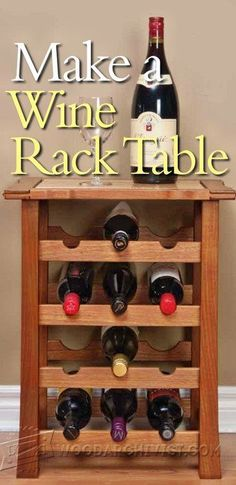 Stacking Wine Rack Plans - Furniture Plans and Projects   WoodArchivist.com