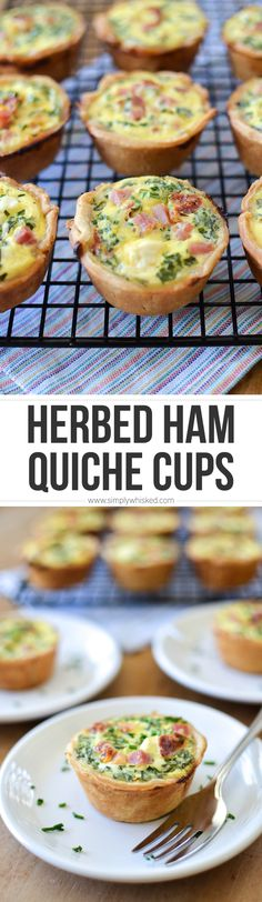 Herbed Ham & Sun Dried Tomato Quiche Cups | breakfast recipe