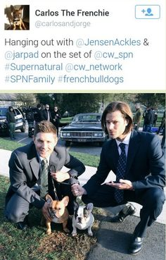 Well Jensen looks so happy and Jared is like O_O And OMG, who is in Baby's drivers seat?!