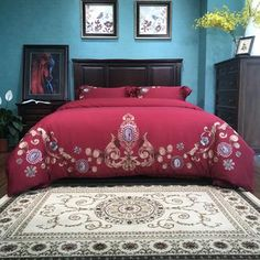 Cheap bed sheet, Buy Quality bedding set king directly from China bed set Suppliers: Embroidery Luxury Wedding Bedding Set King Size Queen Peacock Bed Set Duvet Cover Bed Sheet Bed Sets, Duvet Bedding Sets, Comforters, Peacock Bedding, Bird Design, Home Textile, Duvet Cover Sets, Luxury Wedding, King Size