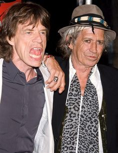 Mick Jagger et Keith Richards---The Stones, one of the best Rock & Roll Bands.