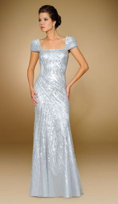 cd5e27ee1e5d Alternate view of the Rina Di Montella 1803 Cap Sleeve Stretch Tulle Formal  Gown image Jovani