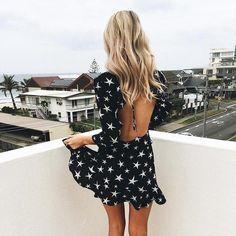 Hollow Out Boho Beach Summer Lace Up Dress