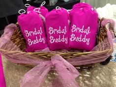 Bridal Buddies come on the CUTEST pink bag! Makes a great gift for the Bride-to-be in your life!