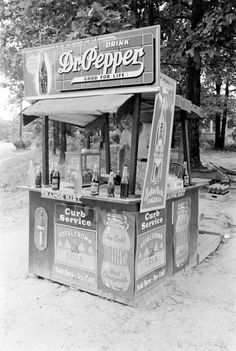 Dr Pepper stand.  Now kids can't even have lemon aide stands without a license or tax permit.  That is sad.