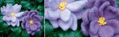 knit flowers dahlia