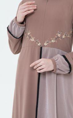 Brokat, Muslim, Dress Ootd, Tulle, Dresses With Sleeves, Grey, Lace, Long Sleeve, Model