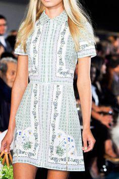 Garden glamour, in dress form | Tory Burch Summer 2014
