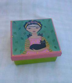 Caixinha Frida Rosa e verde