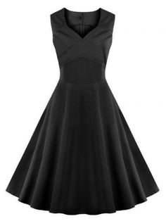 GET $50 NOW   Join RoseGal: Get YOUR $50 NOW!http://www.rosegal.com/vintage-dresses/vintage-women-s-sweetheart-collar-pure-color-flare-dress-623049.html?seid=1424208rg623049