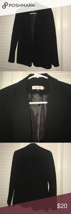 Calvin Klein single button black blazer No signs of wear. True to size. Single button. Crepe. Calvin Klein Jackets & Coats Blazers