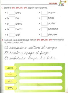 Resultado de imagen para como trabajar silabas inversas