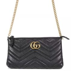 73283666b69e86 Gucci Marmont Chain Crossbody Black Leather Shoulder Bag. Get one of the  hottest styles of. Tradesy