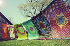 Hand Block Printed Indian Fabric, Hippie Tapestry, Bohemian Fabric, Chakra, Mandala, Rainbow, Bohemian Wedding, Festival, Summer