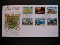 Alderney, Bailwick of Guernsey 1983 Island Scenes 12 values on 2 FDC 's