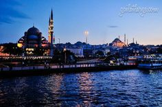 blue hour in Istanbul, Turkey