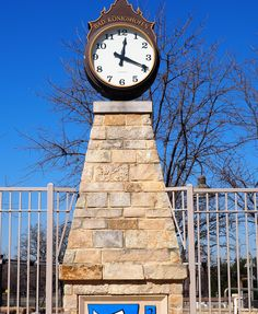 This clock tower at the Bad Konighshofen Aquatic Center in S.J. Stovall Park further celebrates Arlington's relationship with its German sister city. Three additional mosaics by a German artist are yet to be installed at an appropriate location.