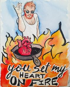 "He got a real kick out of my homemade valentine... original ""From the Brain of Stephanie creations"" are still being cranked out almost 20 years later! #saltbae #valentine #memes #funnymemes #card #carddesign #stationary #customcard #heart #pinchofsalt #illustration #watercolor #ink #aquarelle #sketch #gingerchef #gingerbeard #artistsoninstagram #artstagram #painting #glitter #makersgonnamake #madisonmakers #madisonwi"