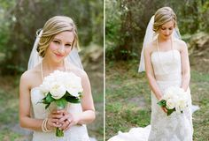 peonies bouquet green and white wedding southern
