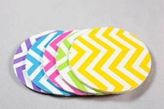 50 Chevron Die Cut Paper Circles, 2 inch Circles, Tags, Scrapbook Paper, Embellishments, Paper Craft, Paper Rounds, Confetti via Etsy
