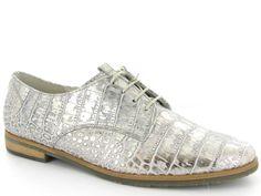 Zilveren veterschoentjes van Gabor. Nieuwe collectie! €124,95 #gabor #veterschoentjes #zilver