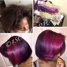 Such a cute mixture!  Purple Hair  Pint: @PaigeC