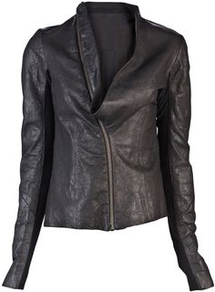 Shop Women's Rick Owens Leather jackets on Lyst. Track over 1385 Rick Owens Leather jackets for stock and sale updates. Leather Jackets Online, Designer Leather Jackets, Indie Fashion, Diva Fashion, Womens Fashion, Rick Owens Women, Cool Outfits, Winter Fashion, Jackets For Women