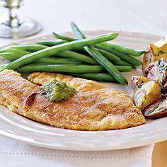 Top-Rated Tilapia Recipes | Cornmeal-Crusted Tilapia with Tomatillo Salsa | CookingLight.com