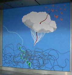 La artista Olimpia Velasco deja su sello en el aeropuerto de Düsseldorf