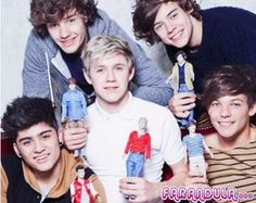 Muñecos de One Direction para sus fans