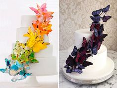 21 de bolos com borboletas para a festa de 15 anos - Constance Zahn | 15 anos Bolo Laura, Cupcake Cakes, Cupcakes, Butterfly, Blog, Party, Desserts, Graduation, Quinceanera