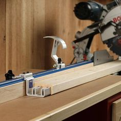 Kreg Tool Tip: Cut accurately, and avoid measuring and marking by hand, with stop blocks. Any time you're making cuts with a miter saw or table saw, a great way to ensure exactly-sized project parts is to use a stop block. Whether it's a built-in stop, like on the Kreg Trak & Stop System, or a homemade one, you can simply butt your parts against the block and cut them. This saves you the time, hassle, and potential inconsistencies that come with measuring and marking each one!
