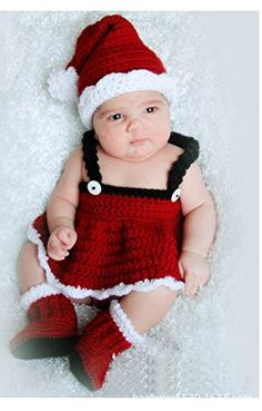 Jastore® Photography Prop Christmas Santa Knitted Crochet Costume Cap Dress Shoes Jastore http://www.amazon.com/dp/B00N8L6NTA/ref=cm_sw_r_pi_dp_wtGyub0GH88Y9