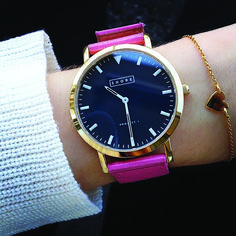 St Ives watch with classic pink strap