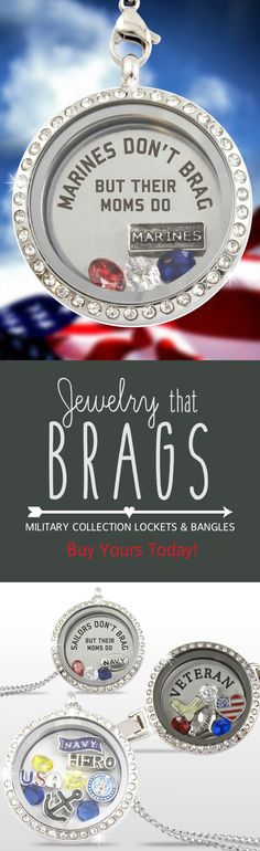 The perfect gift for anyone in the military, or those that are proud of them. All lockets and bangles ship free. Get yours today.