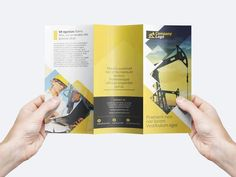 Free PSD trifold flyer template that you could use to create your flyer layout design.