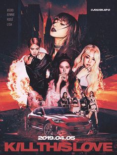190330 'kill this love' comeback poster concept : blackpink Blackpink Poster, Kpop Posters, Black Pink Kpop, Blackpink Memes, Blackpink Photos, Fan Art, Entertainment, Blackpink Jisoo, Graphic Design Posters