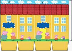 Casinhas da Peppa Pig para Imprimir e Montar: